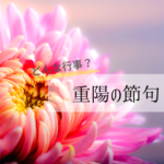 重陽の節句2020年はいつ?菊の節句の由来や行事の楽しみ方!食べ物も紹介